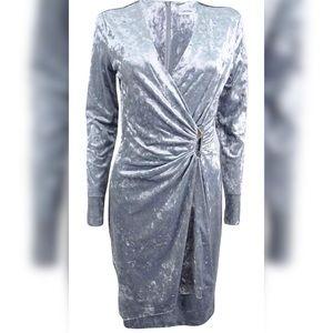 Calvin Klein Crushed Velvet Wrap Dress